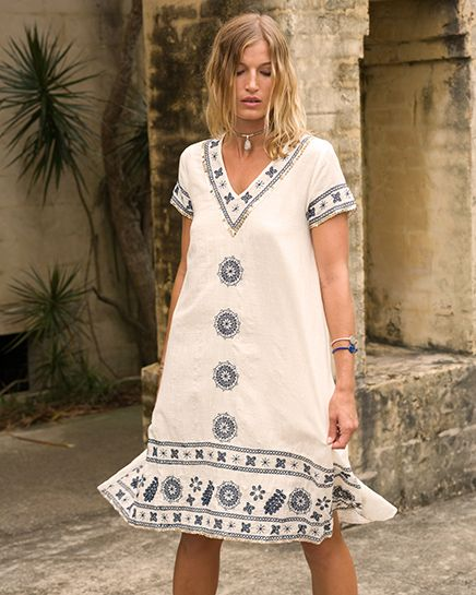 You saved to RY Spring 2017 Ruby Yaya | Spring Summer 2017 Gorgeous embroidery ivory dress. #Bohemian #craft #lifestyle #handmade #embroidery #white