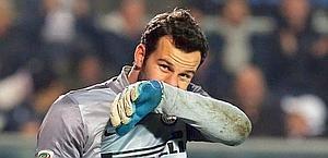 Samir Handanovic, da questa stagione all'Inter. Ansa