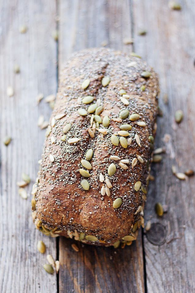 Whole Wheat Seed Bread: This whole wheat loaf topped with a variety of seeds is perfect for sandwiches or toasted with jam in the morning.