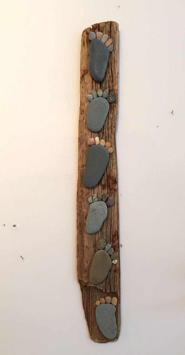 "Rock Feet on Driftwood- 26"""