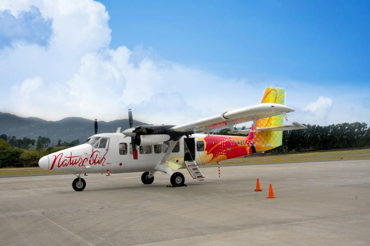 Nature Air Costa Rica Airline. Smallest and shortest plane ride.