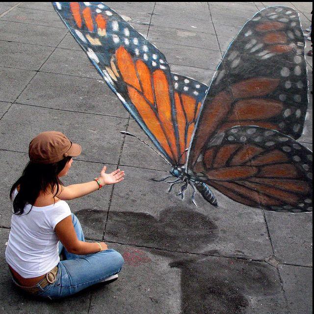 3D Chalk Art - Julian Beever                                                                                                                                                                                 More
