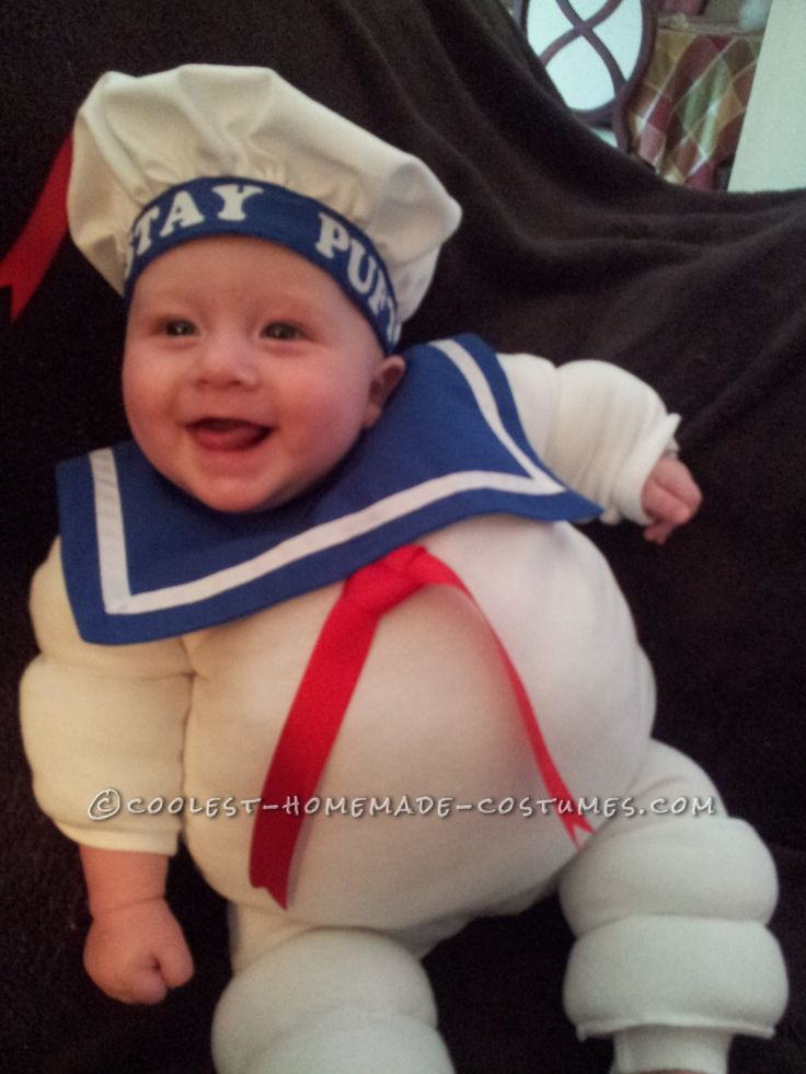 Adorable Baby Stay Puft Marshmallow Man Costume... This website is the Pinterest of costumes