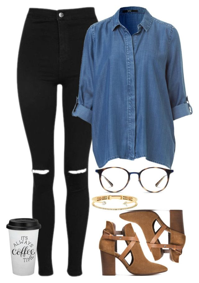 x by welove1 on Polyvore featuring polyvore fashion style Topshop H London Delfina Delettrez Ray-Ban clothing