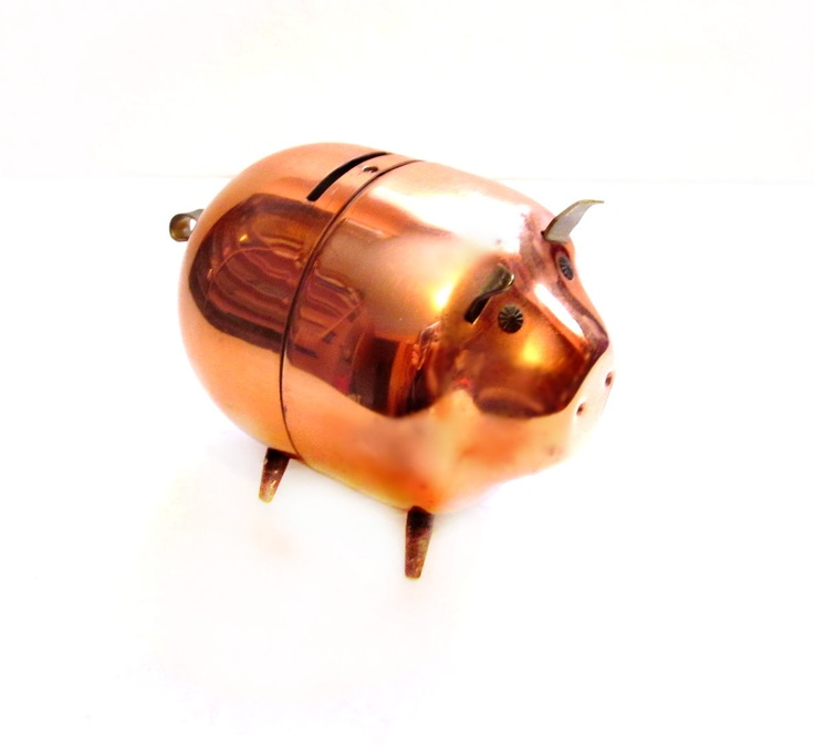 cute piggy bank copper metal pig bank