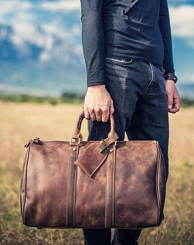 feff350e9 Vintage Leather Mens Cool Weekender Bag Travel Bag for Men | Man bag ...