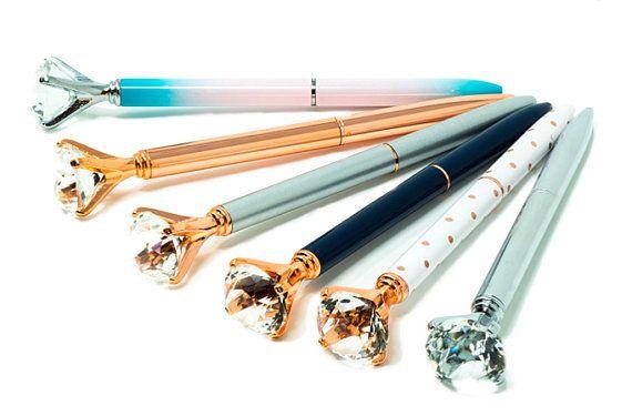 Diamond Top Pen,Crystal Gem Pen,Ballpoint Pen