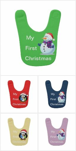 My First Christmas Baby Bibs