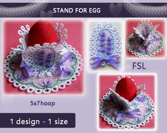 Stand for egg  eggs cup No.343  easter  FSL  by EmbroideryRady