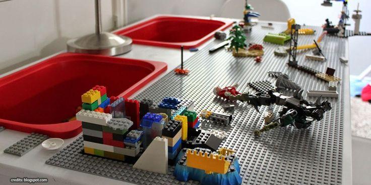 die besten 20 lego tisch ideen auf pinterest lego aufbewarung lego duplo tisch und zimmer. Black Bedroom Furniture Sets. Home Design Ideas