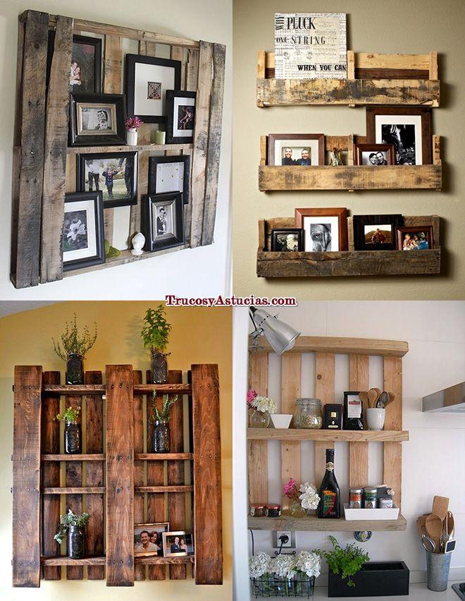 ¿Necesitas unas estanterías? Apuntate a decorar reciclando y hazte unas estanterías de palets, ¡la estantería será en sí misma el objeto de decoración!