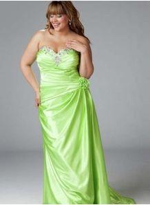GERGANA - Evening dresses Plus size Sheath/Column Chapel train Stretch satin Sweetheart Occasion dress