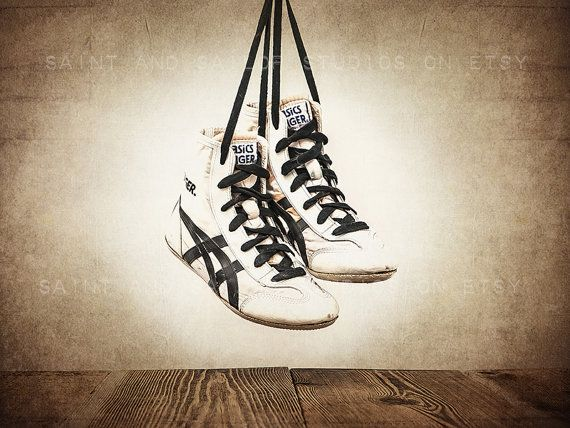 Vintage Wrestling Shoes Photo Print Rustic Decor by shawnstpeter, $20.00