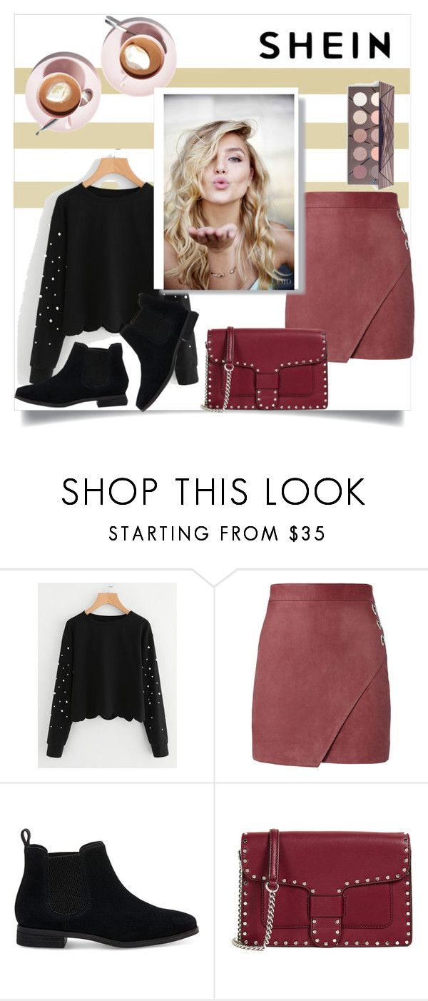 """""""Pearl Beading Scallop Hem Sweatshirt"""" by almedina-mehic ❤ liked on Polyvore featuring Michelle Mason, TOMS and Rebecca Minkoff"""