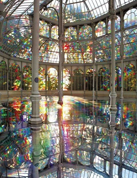 The Crystal Palace, Madrid, Spain: Madrid Spain, Madridspain, Dreams, Crystal Palace, Pools Houses, Places, Crystals Palaces, Rainbows Rooms, Stained Glasses