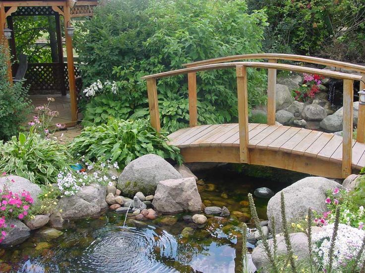 17 best images about build bridge on the pond on for Fish pond bridges