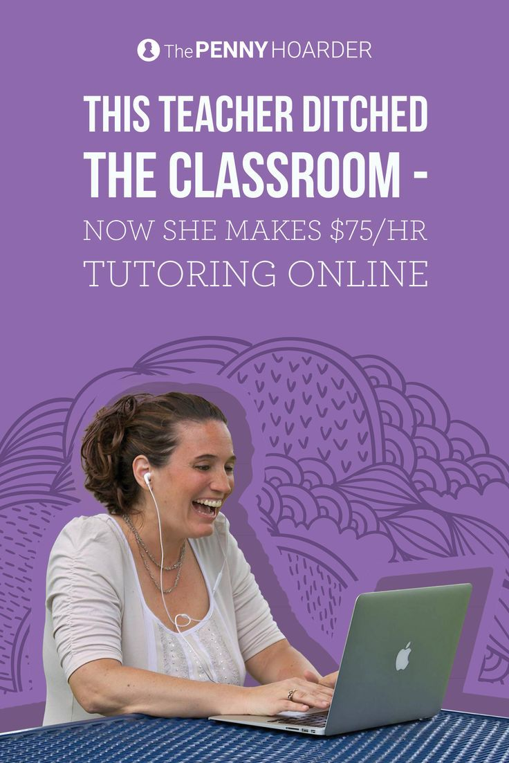 This former teacher started an online tutoring business and makes $75 an hour. Here's how she ditched the classroom and got started. /thepennyhoarder/