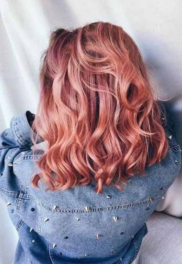 33 Most Gorgeous Rosy Red Hair Color Get A Top Class Look Salmon Hair Hair Styles Dyed Hair