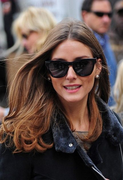 Olivia Palermo in Male Style Sunglasses