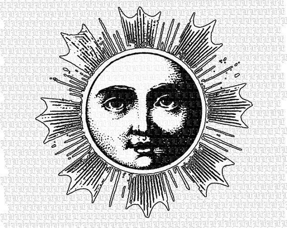 Sun Solar Body Ancient Astronomy by luminariumgraphics on Etsy, $2.20