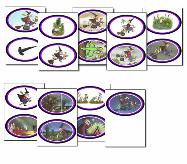 room on the broom sequence cards halloween - Halloween Sequences