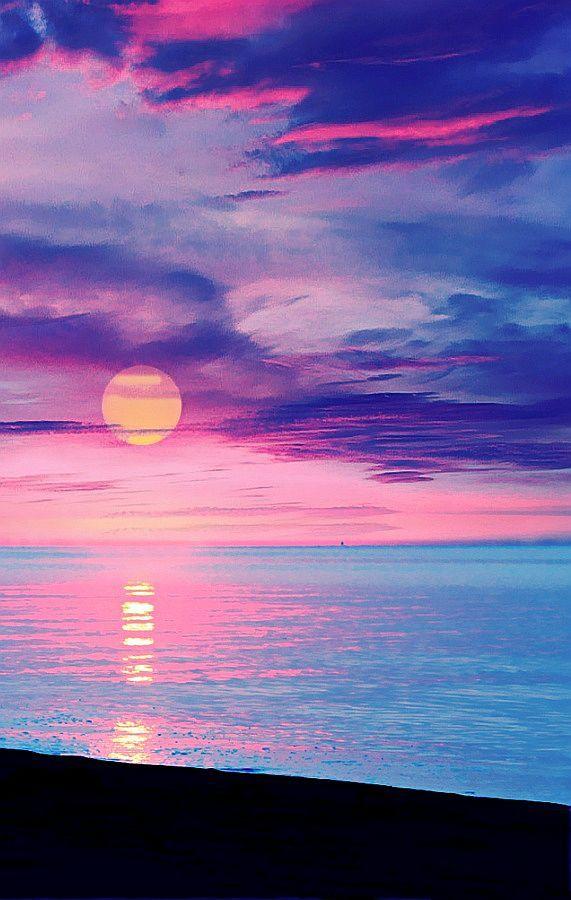Pastel Sunset. Gorgeous blues & pinks.