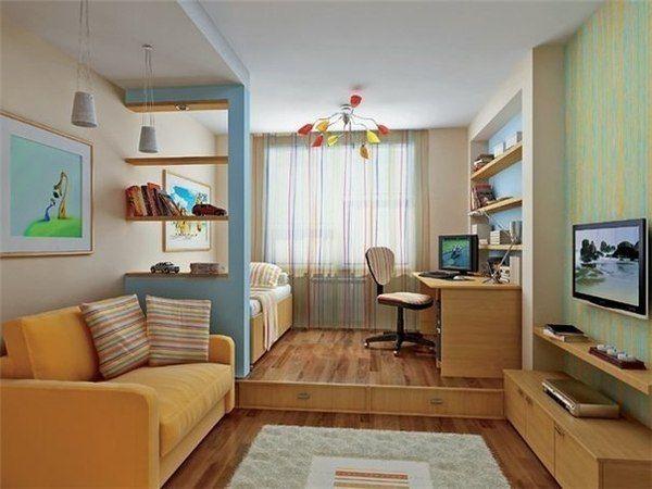 Как обустроить маленькую комнату: советы по выбору мебели и дизайна, 30 фото готовых интерьеров