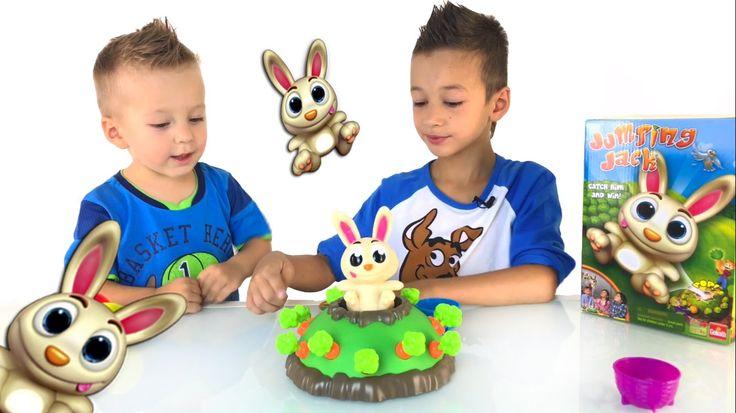 Прыгающий кролик Джек Игры для детей Family Fun Game for kids Jumping Jack Game Видео для детей - YouTube