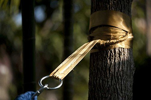 Hammock Tree Straps by Hammock Sky  Best Extra Long Hanging Straps for Camping  Travel  Heavy Duty 1200 Lbs Capacity  Superior Polyester Material Works with All Hammocks  Larger Trees Gold *** More info could be found at the image url.