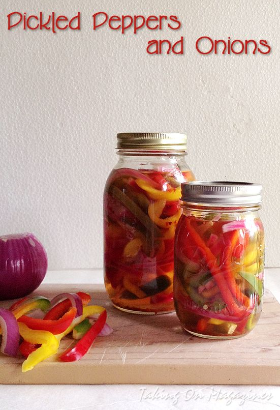 Pickled Peppers and Onions via Taking On Magazines