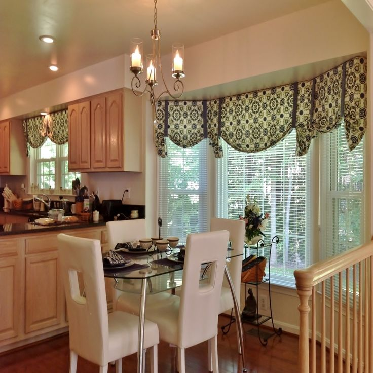 Kitchen Window Furnishings Ideas: Kitchen Bay Window Valances Decor & Tips: Cool Window
