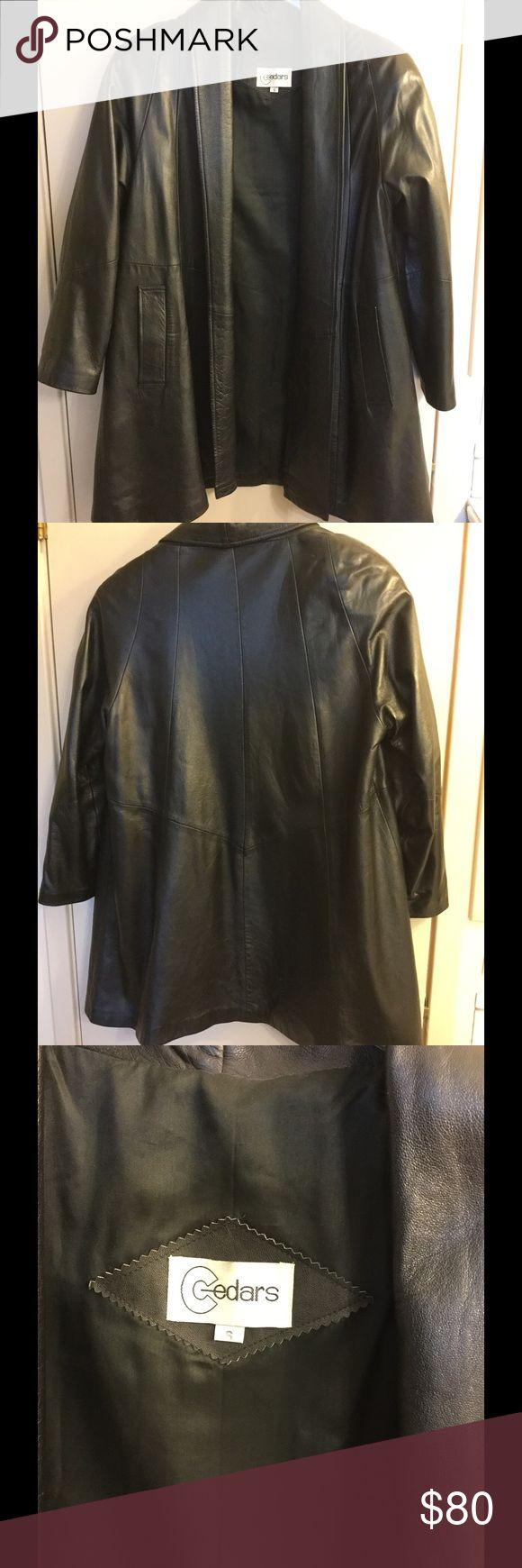 Long Leather Jacket Long Leather Jacket Cedars Jackets & Coats