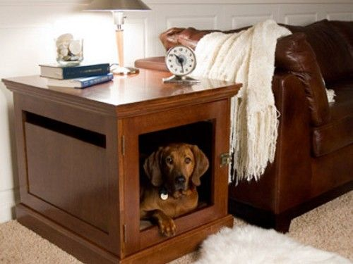 Weekend DIY Project: How to Make Side Tables Into Dog Beds   HomeJelly