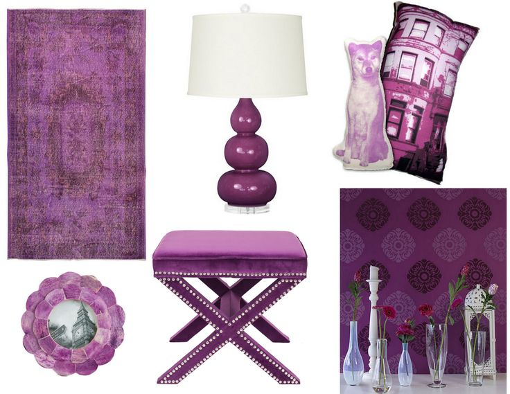2014 Pantone Colour of the Year Radiant Orchid Home Decor Items