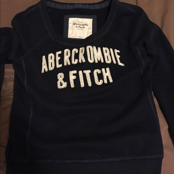 Womens Abercrombie and Fitch sweatshirt Blue Abercrombie and Fitch hoodless sweatshirt. Abercrombie & Fitch Tops Sweatshirts & Hoodies