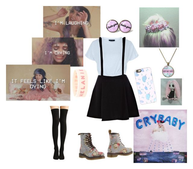 """Melanie Martinez"" by coffeeismysoul ❤ liked on Polyvore featuring New Look, River Island, Dr. Martens and Casetify"