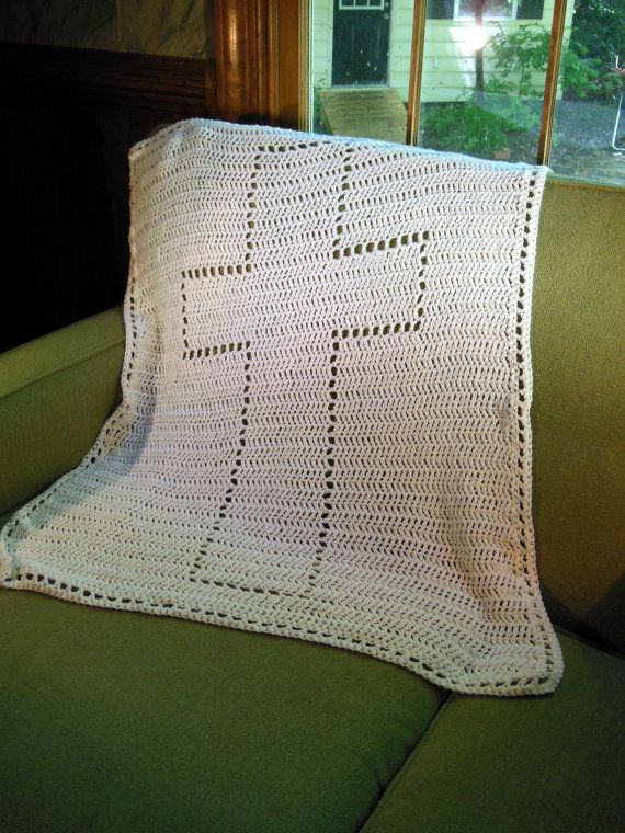 Crochet Cross : ... blanket for baby or toddler, crochet cross, cotton $65, i LOVE this