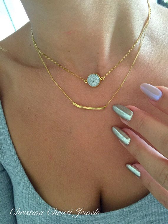 Women's Silver Stone Necklace Silver by ChristinaChristiJls