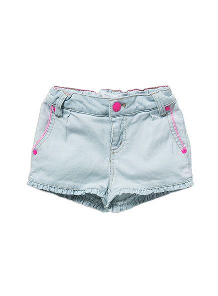 Pumpkin Patch - girls neon trim denim shorts
