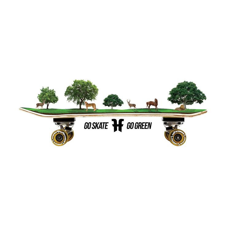 Go Skate Go Green, an artwork for Twizter Liberated Genuine Bali #skate #green #skateboard #lion #horse #tree #gogreen