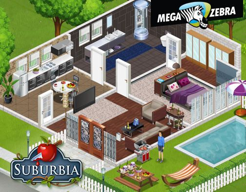 Overview of the house, pool and the BBQ. Every single guy in Suburbia should have these 2 things.
