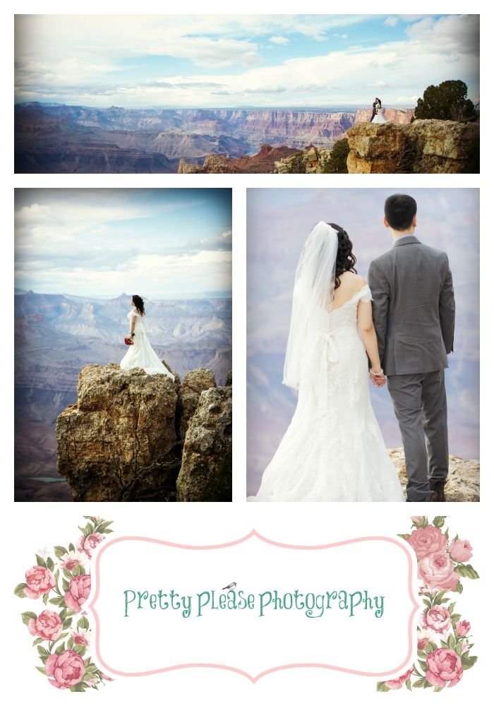 Grand Canyon Elopements And Small Ceremonies Bride Groom Standing On The Edge Of Destination Wedding Photographerdestination
