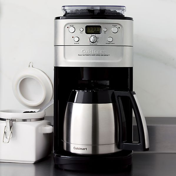 cuisinart automatic grind and brew coffee maker instructions