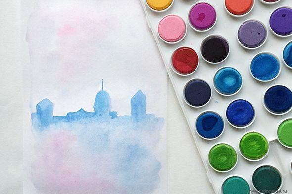 Акварельный город / Watercolor city