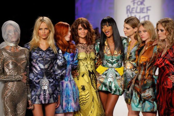 Daphne Guinness Karen Elson Helena Christensen and Naomi Campbell walks the runway at Naomi Campbell's Fashion For Relief Haiti NYC 2010 Fashion Show...