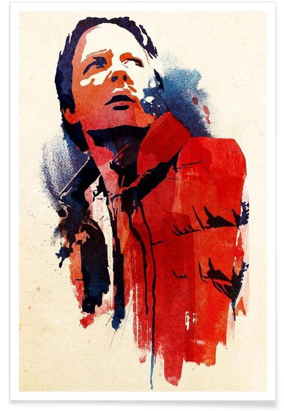 Marty McFly en Affiche premium par Róbert Farkas | JUNIQE
