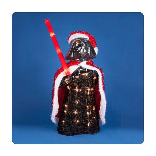 Star Wars Darth Vader 28-Inch Light-Up Tinsel Display - Kurt S. Adler - Star Wars - Holiday Decor at Entertainment Earth