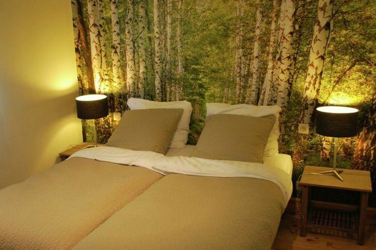 Fotobehang van bomen in de slaapkamer   Huisidee u00ebn   Pinterest   Villas and Van
