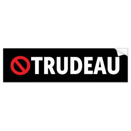 Stop Justin Trudeau Canada Liberal Bumper Sticker - craft supplies diy custom design supply special