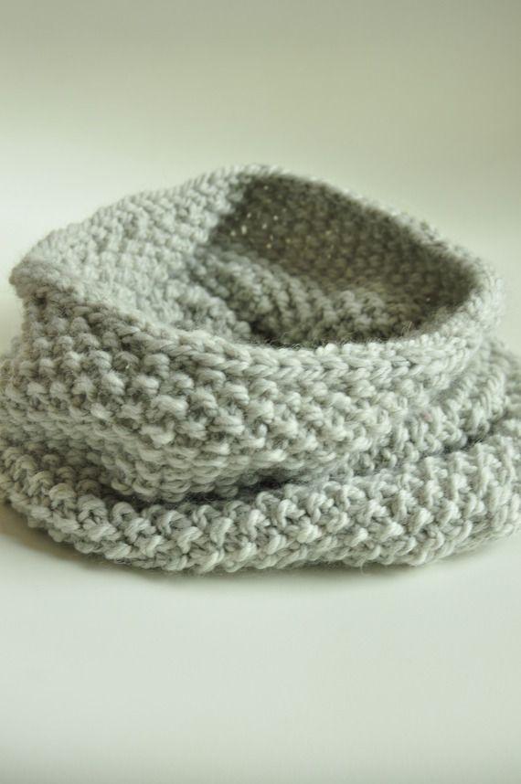 Col, snood, écharpe femme tricoté main en laine & alpaga
